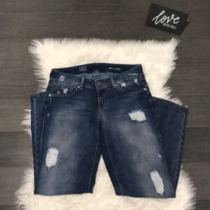 "Saks ""Gray"" Distressed Jeans"